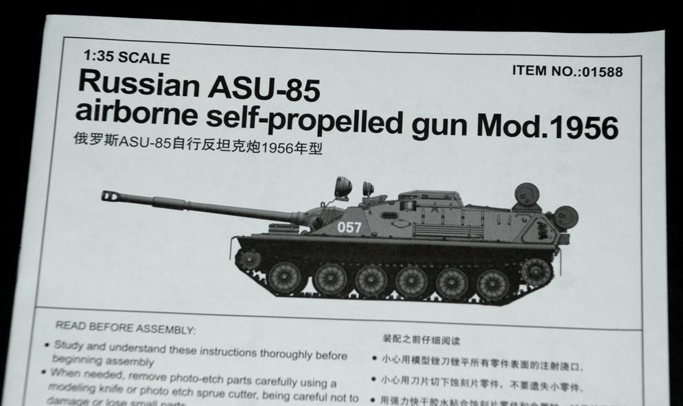 Trumpeter 01588-1:35 ASU-85 airborne self-propelled gun Mod Neu