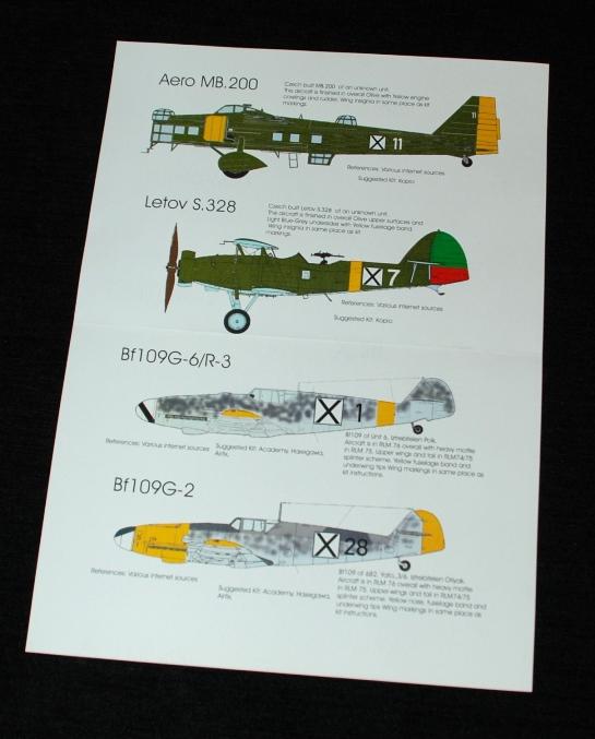 2 HN Ac Decals Blackbird Models Bulgarian AF 1.72