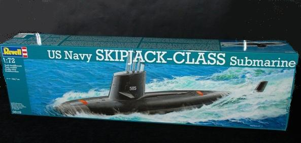 1 HN Ma Revell US Navy Skipjack Class Submarine 1.72