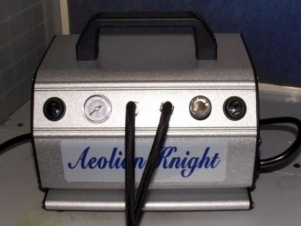 2 HN Tools absolute airbrush Aeolian Knight portable compressor