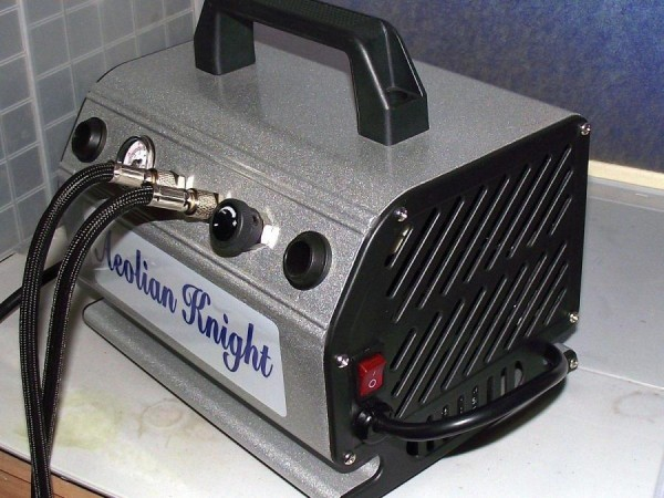 3 HN Tools absolute airbrush Aeolian Knight portable compressor