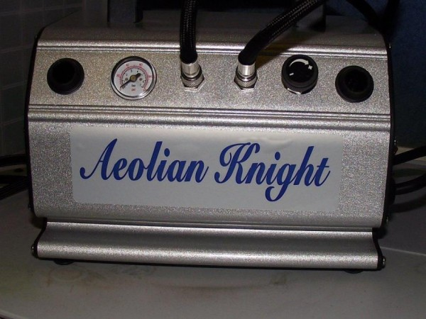 5 HN Tools absolute airbrush Aeolian Knight portable compressor