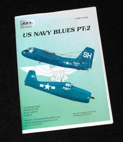 1 HN Ac Decals Blackbird Models US Navy Blues Pt.2, 1.48
