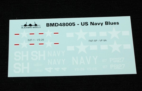 4  HN Ac Decals Blackbird Models US Navy Blues Pt.2, 1.48