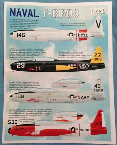 1 HN Ac Decals Iliad Design Naval TBirds 1.48