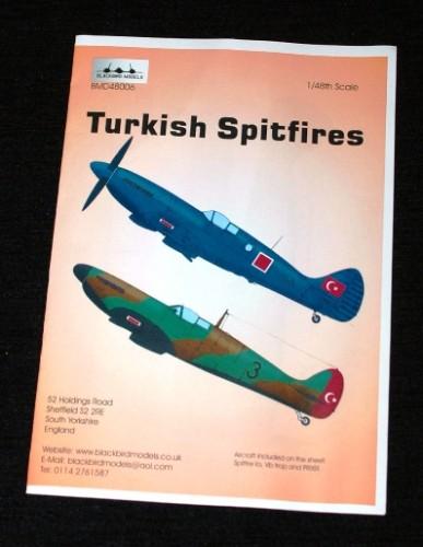 1 HN Ac Decals Blackbird Models Turkish Spitfires  1.48