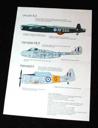 2 HN Ac Decals Blackbird Models Mau Mau Campaign 1.72