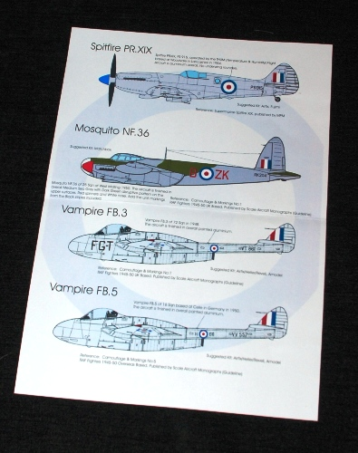 2 HN Ac Decals Blackbird Models Post War RAF Pt1 1.72