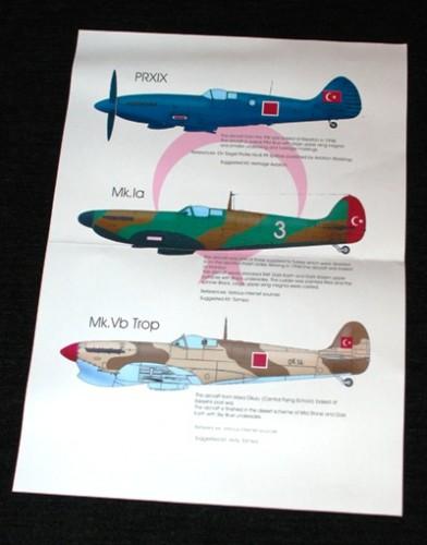 2 HN Ac Decals Blackbird Models Turkish Spitfires  1.48