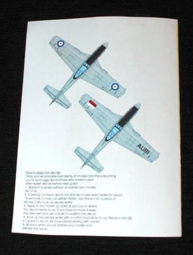 3 HN Ac Decals Blackbird Models Post War Mustangs 1.72