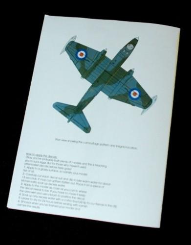 3 HN Ac Decals Blackbird Models RAF Canberras Pt1 1.72