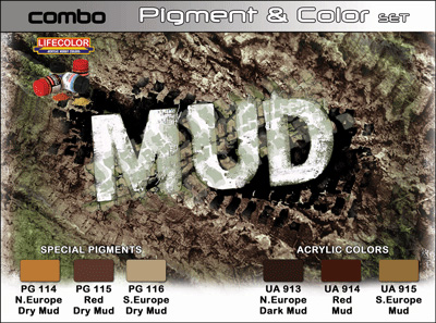 8 HN TM Lifecolor Mud Pigment and Color Set