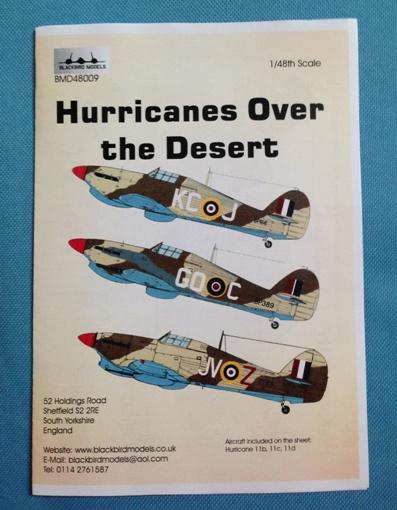 1 HN Ac Decals Blackbird Models Hurricanes over the Desert 1.48