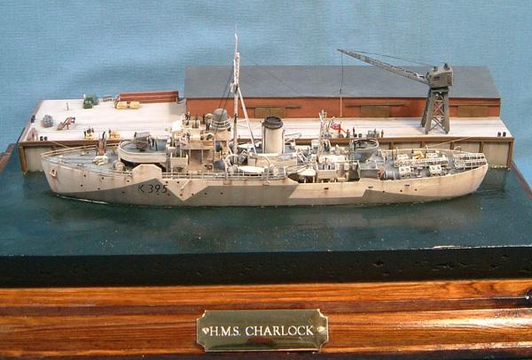 HMS Charlock Flower Class Corvette scratchbuilt 1.350