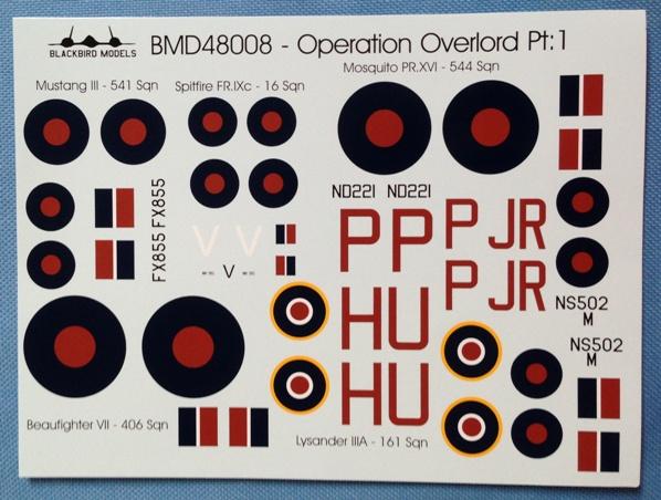 4 HN Ac Decals Blackbird Models Operation Overlord Pt1 1.48