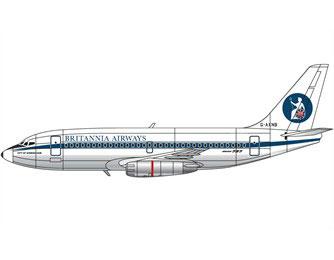 Boeing 737-204C, G-AXNB, Britannia Airways, 1971