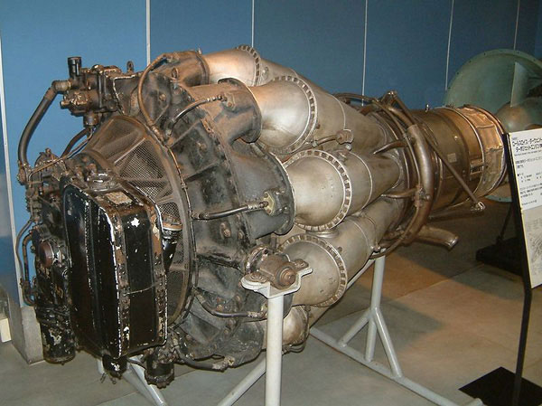 Rolls Royce Derwent engine as fitted to the Gloster Meteor F4