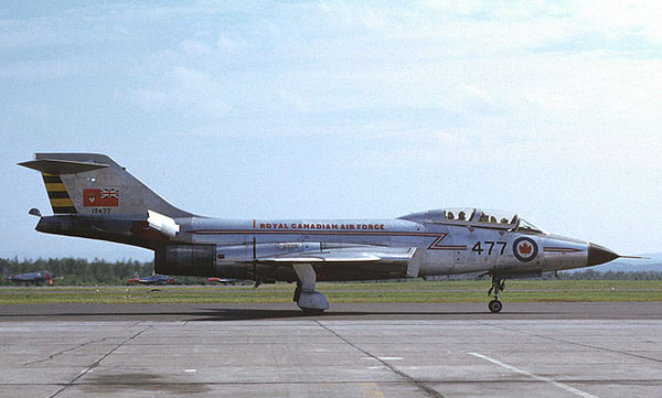 RCAF CF-101B Voodoo (17477) taken in summer 1962 at the Bagotville Air Pageant