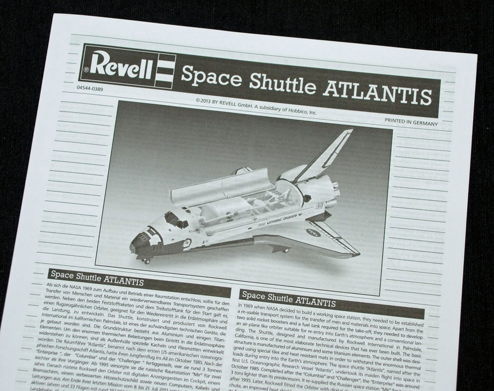 revell germany space shuttle atlantis model kit - photo #16
