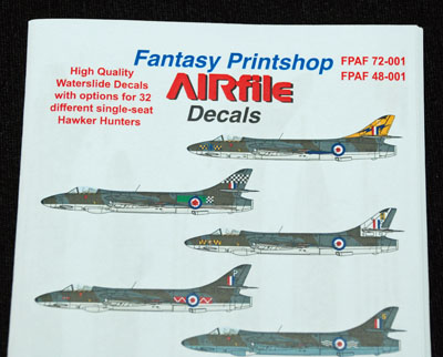 1 HN Ac Decals FP AIRfile Decals single seat Hunters 1.72