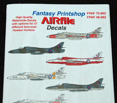 1 HN Ac Decals FP AIRfile Decals twin seat Hunters 1.72