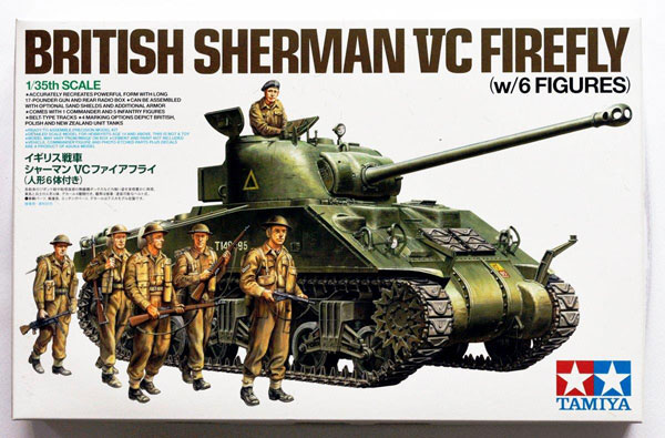Tamiya British Sherman VC Firefly with 6 Figures 1:35