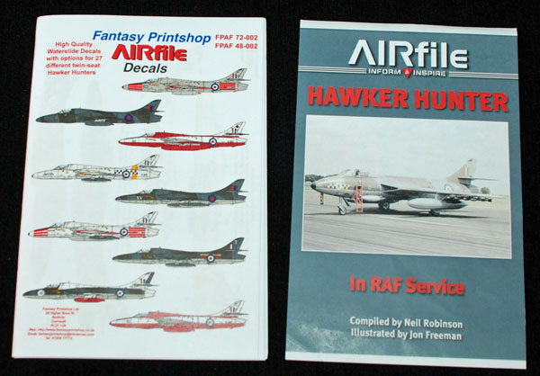 2 HN Ac Decals FP AIRfile Decals twin seat Hunters 1.72