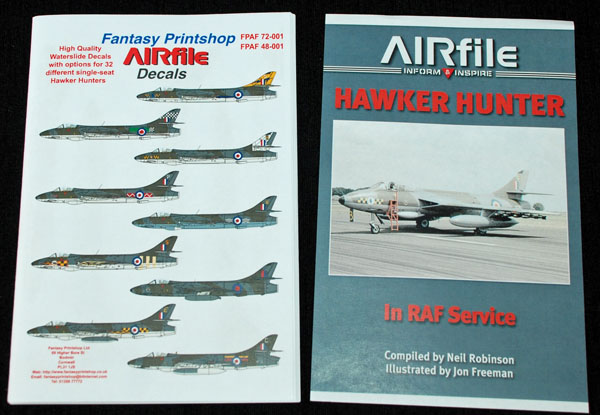 5 HN Ac Decals FP AIRfile Decals single seat Hunters 1.72