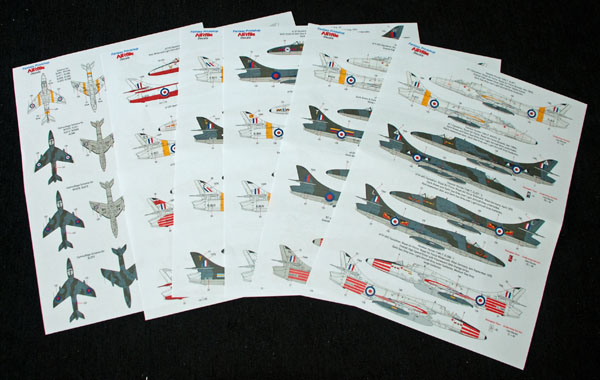 5 HN Ac Decals FP AIRfile Decals twin seat Hunters 1.72
