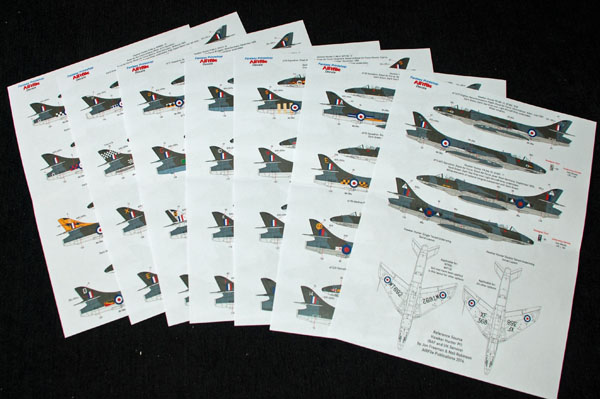 6 HN Ac Decals FP AIRfile Decals single seat Hunters 1.72