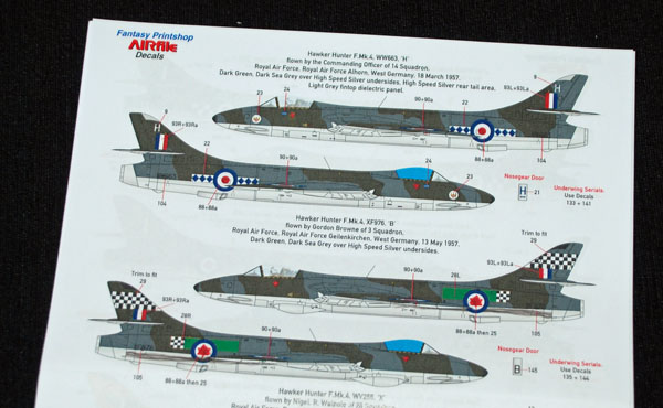 7 HN Ac Decals FP AIRfile Decals single seat Hunters 1.72