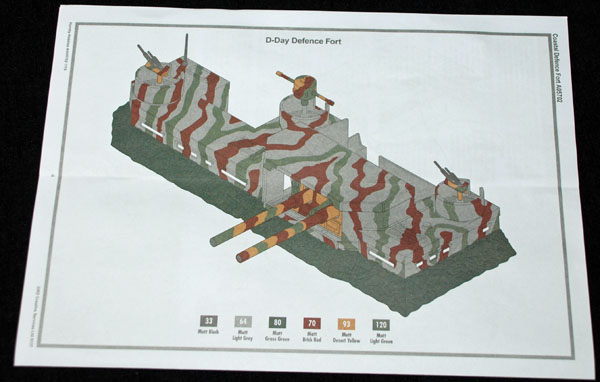 11 HN Ar Airfix D Day Coastal Defence Fort 1.72