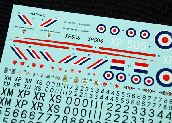 3 HN Ac Decals SM Decals Folland Gnat T1 1.48
