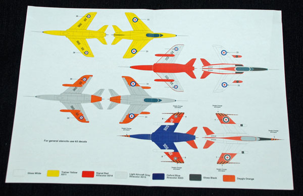4 HN Ac Decals SM Decals Folland Gnat T1 1.48