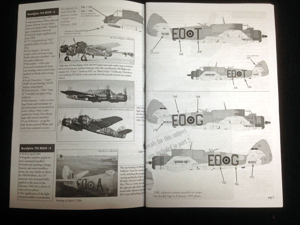 5 HN Ac Decals Aviaeology 404 Sqn Beaufighters 1.32