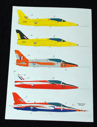 5 HN Ac Decals SM Decals Folland Gnat T1 1.48