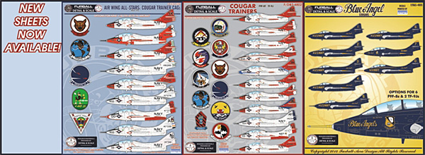 1 HN Ac Decals Furball Detail and Scale Cougar Trainers 1.48