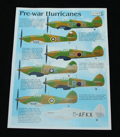 1 HN Ac Decals Iliad Design Pre War Hurricanes 1.72