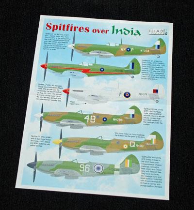 1 HN Ac Decals Iliad Design Spitfires over India 1.48