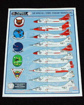 2 HN Ac Decals Furball Detail and Scale Cougar Trainers 1.48