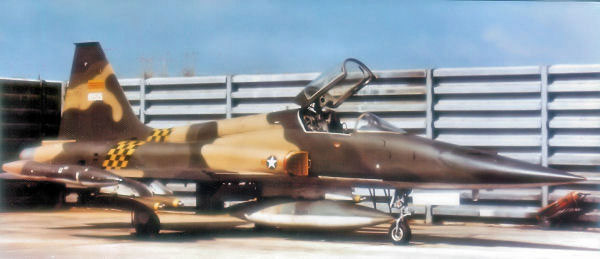 Photo: A Northrop F-5C Freedom Fighter of the 522d Fighter Squadron, 23rd Tactical Wing of the South Vietnamese Air Force (VNAF), Bien Hoa Air Base, 1971.