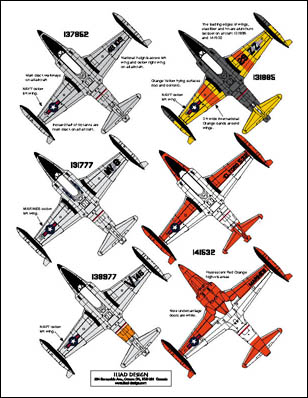 3 HN Ac Decals Iliad Design Naval T Birds 1.72