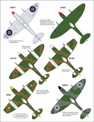 3 HN Ac Decals Iliad Design Spitfires over India 1.48