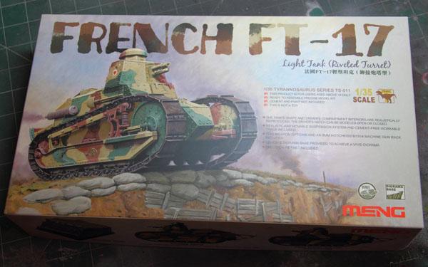 1 BN Ar Meng French FT17 Light Tank 1.35 Pt1