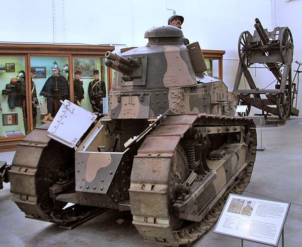Photo: courtesy Paul Herman, showing an FT-17 at the Brussels museum of the Army