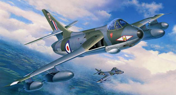 1 BN Ac Revell Hawker Hunter Fisher T7 Conversion 1.32