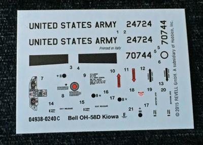 10 HN Ac Revell Bell OH58D Kiowa 1.72