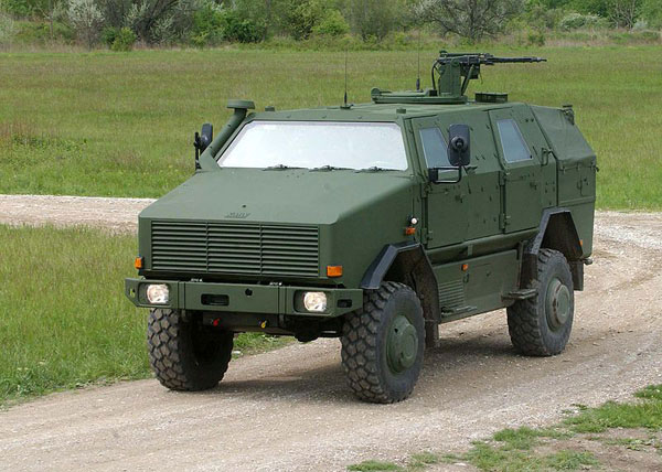 ATF Dingo 2 with a mounted machine gun