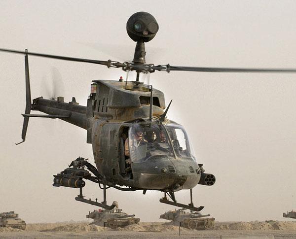 2 HN Ac Revell Bell OH58D Kiowa 1.72