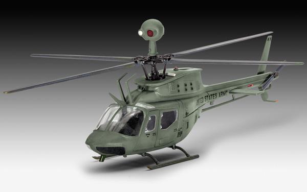 3 HN Ac Revell Bell OH58D Kiowa 1.72